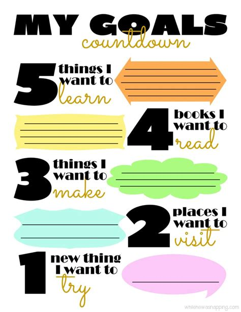 countdown goals printable    napping