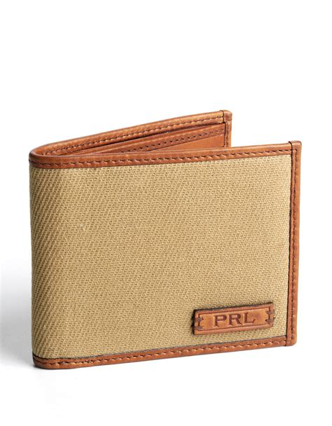 Polo Wallet For polo ralph leather and canvas billfold wallet in for lyst