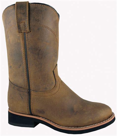 smoky mountain boots children boys muskogee brown