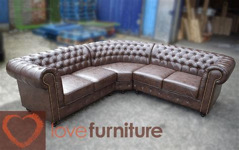 leather chesterfield corner sofa comp chesterfield leather corner sofa 2c2