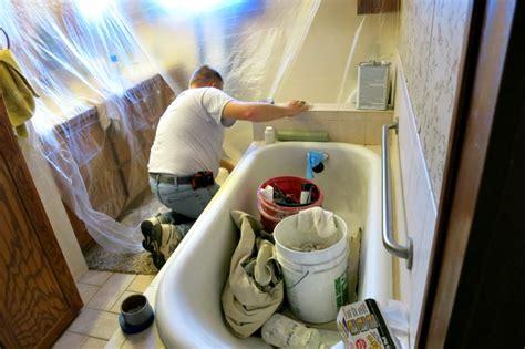 spray painting bathtub my bathtub refinishing project