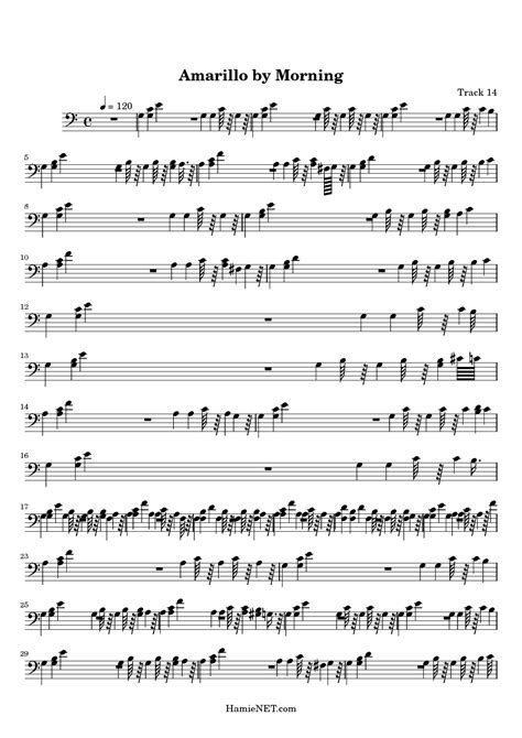 Amarillo By Morning Guitar Chords