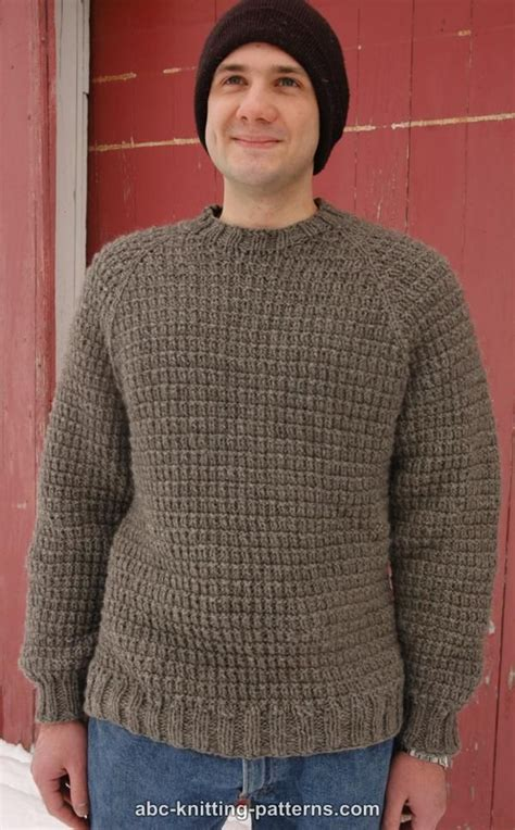 mens knitting patterns free abc knitting patterns s raglan woodsman sweater free