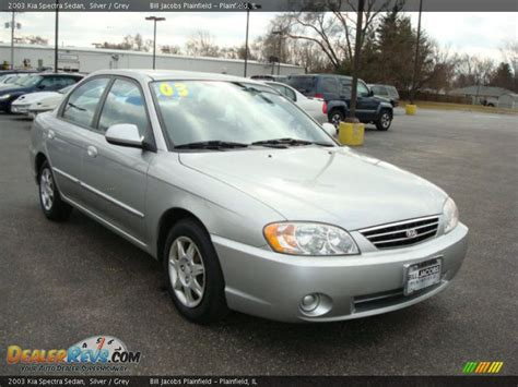 2003 Kia Spectra 2003 Kia Spectra Sedan Silver Grey Photo 4 Dealerrevs