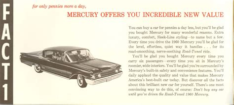 1960s fun facts directory index mercury 1960 mercury 1960 mercury facts