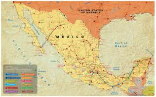 map of mexico map of mexico cancun riviera and mexico city