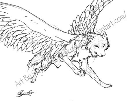 flying wolf coloring page the gallery for gt tribal unicorn drawings