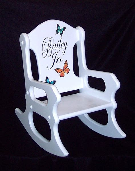 personalized toddler chairs cheap personalized gift toddler rocking chair with butterflies