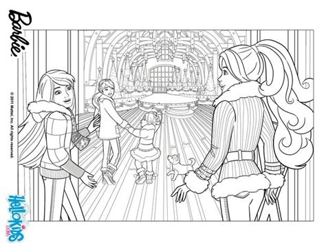 barbie stacie coloring pages barbie s christmas adventure coloring pages hellokids com