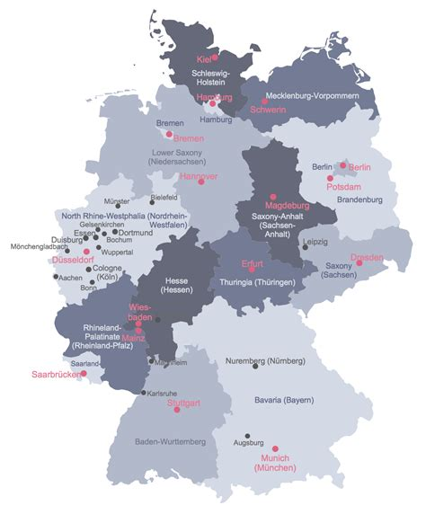 map of the germany map of germany solution conceptdraw
