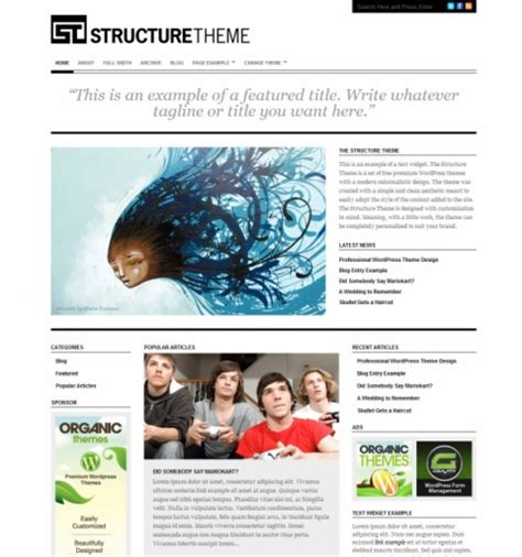 wordpress layout structure structure free wordpress theme lovely templates