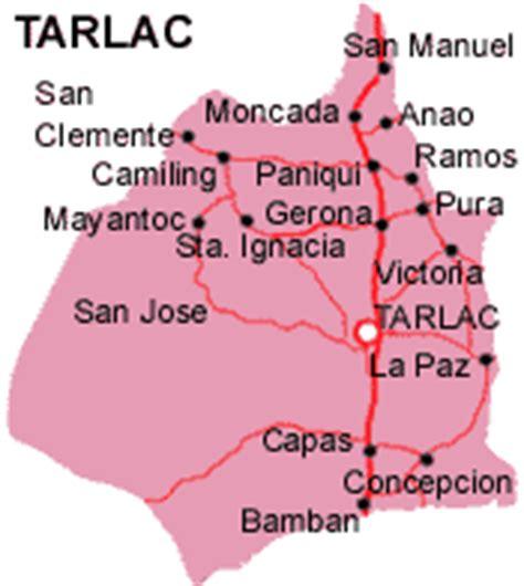 san jose tarlac map municipality of mayantoc