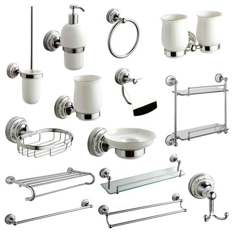 bathroom fittings chrome style brass wall mounted bathroom accessories ebay