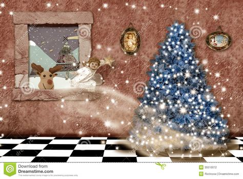 Interior Design Home Based Business cheerful christmas home greeting card stock photography