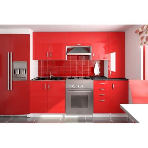 AMANDA Rouge   Cuisine complète 220 cm   Achat / Vente