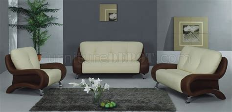 two tone living room furniture two tone leather living room set with metal legs