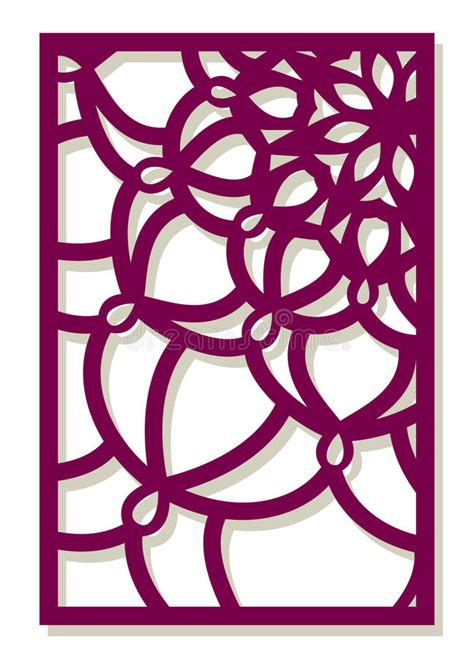 vector laser cut panel abstract pattern template