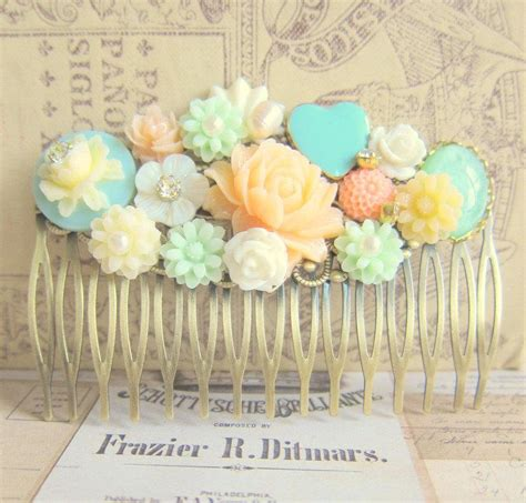 Wedding Hair Accessories Green by Wedding Hair Accessories Bridal Hair Comb Soft Orange