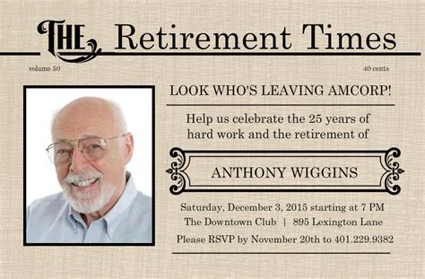free retirement invitations templates retirement flyer template free printable retirement