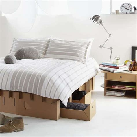 cardboard bed cardboard furniture paperpedic bed by karton group lzion