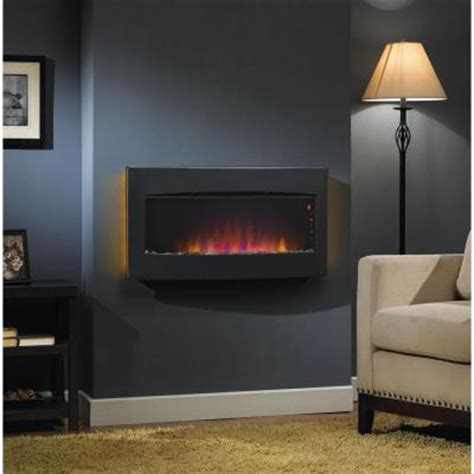stainless steel wall mounted electric fireplace hton bay westridge 34 in wall mount electric fireplace