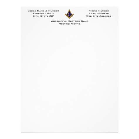 Modern Style Masonic Lodge Letterhead Zazzle Ca Masonic Lodge Website Templates