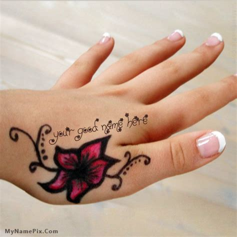 hand tattoo generator mehndi name hand name picture stuff name generator