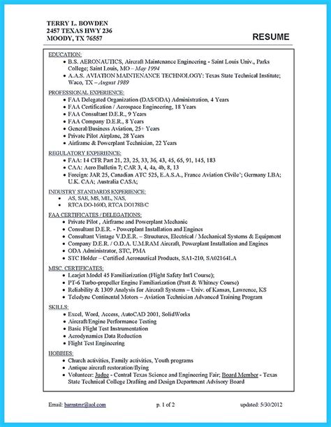 Airframe Mechanic Sle Resume Awesome Convincing Design And Layout For Aircraft Mechanic