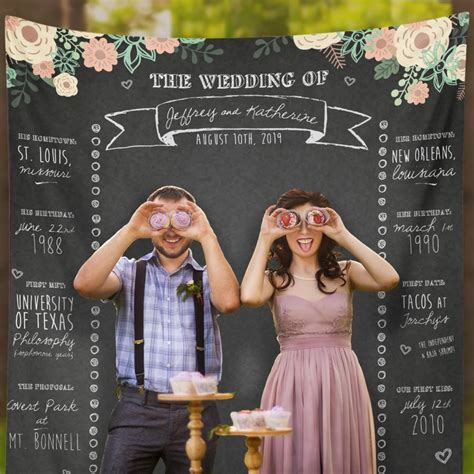 Wedding Banner For Photos by Custom Wedding Photo Booth Chalkboard Wedding Photo Booth