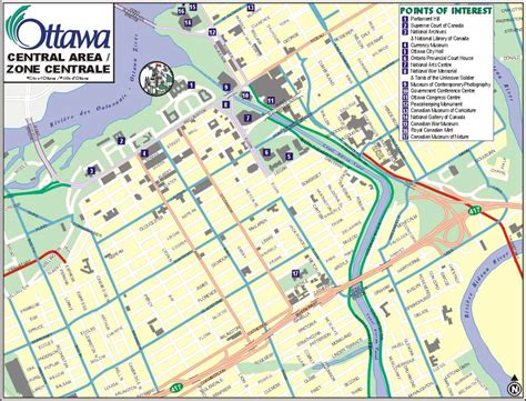 map of canada ottawa ottawa ontario canada city guide