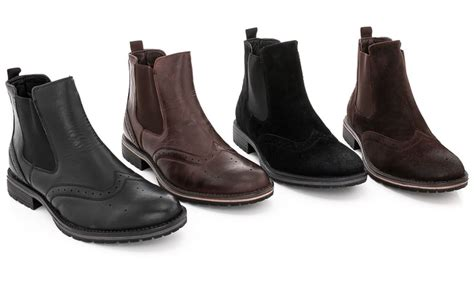 mens boots deals adolfo dress s brogue boots groupon goods