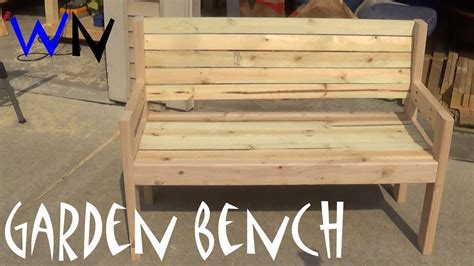 how to make a garden bench from a pallet building a garden bench steve s design youtube