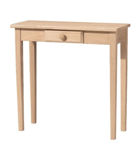 Entry Tables by 30 Inch Shaker Entry Table With Drawer Simply Woods