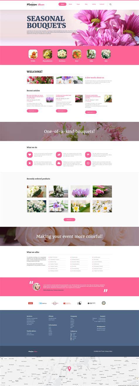 template joomla html flowers joomla template