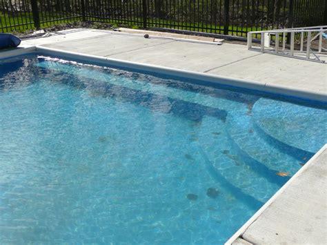 pool bench custom steel inground swimming pool steps penguin pools