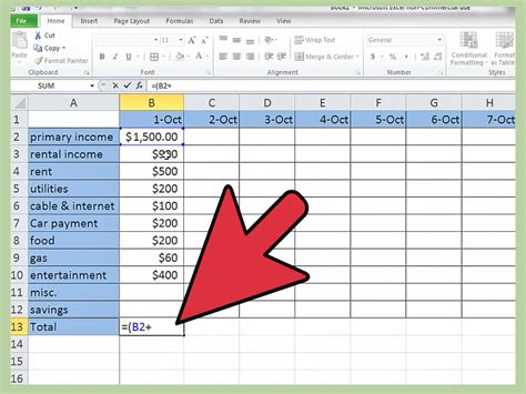 Make Budget How To Make A Personal Budget On Excel With Pictures