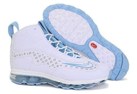 nike ken griffey jr shoes in white blue kicks
