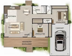 2 Bedroom Flat Design Plano De Casa Elevada Con 2 Dormitorios Y Garaje