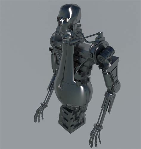 terminator robot 3d model 3ds mtl cgtrader