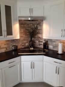 tile backsplash corner cabinets for the home