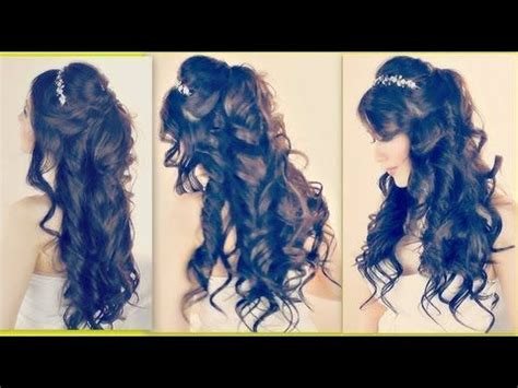 collage youtube video hair tutorial easy half updos long wavy pinterest the world s catalog of ideas