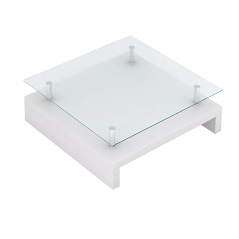 White Glass Coffee Table Glass Coffee Table Square White Www Vidaxl Au