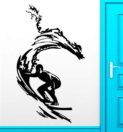 surfing wall stickers surf decals promotion shop for promotional surf decals on