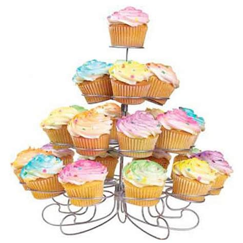 Cup Cake Stand Tier Dessert Stand Muffin 22pcs Berkualitas charmed 23 cups 4 tiers cupcake dessert stand silver walmart