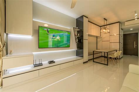 tv feature wall interior design singapore interior