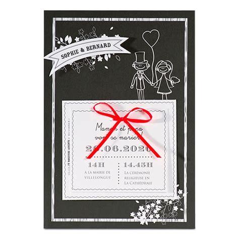 Hochzeitseinladung Einseitig by Einladung Zur Hochzeit In Schwarz Mit Karikatur Weddix De