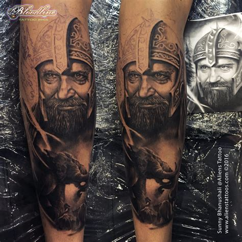 medieval warrior tattoo by sunny bhanushali at aliens