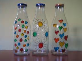 Como pintar botellas de vidrio decorar botellas de vidrio