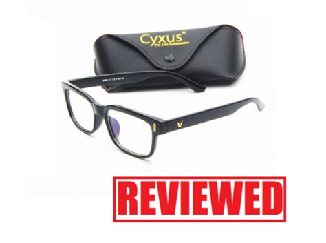 blue light glasses clear cyxus blue light filter vintage glasses review clear anti