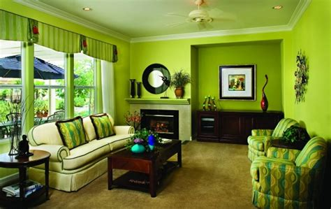 green wall color with finished wooden coffee table for modern living room ideas with